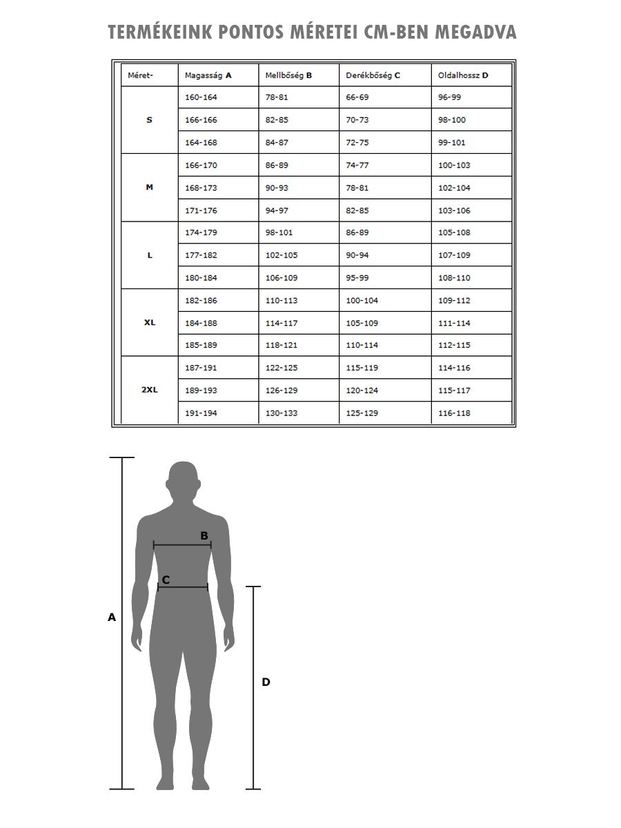 Férfi mérettábla