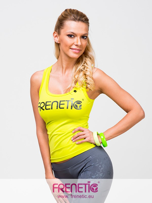 983c5c6e34 Hilly 11/01- sárga színű, egyedi, női fitness trikó