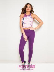 HANNY-02/00 szürke márvány mintázatú női, oldalán kivágott feliratos bő pamut trikó main image