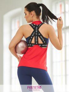 LAU-23 piros lezser női trikó main image