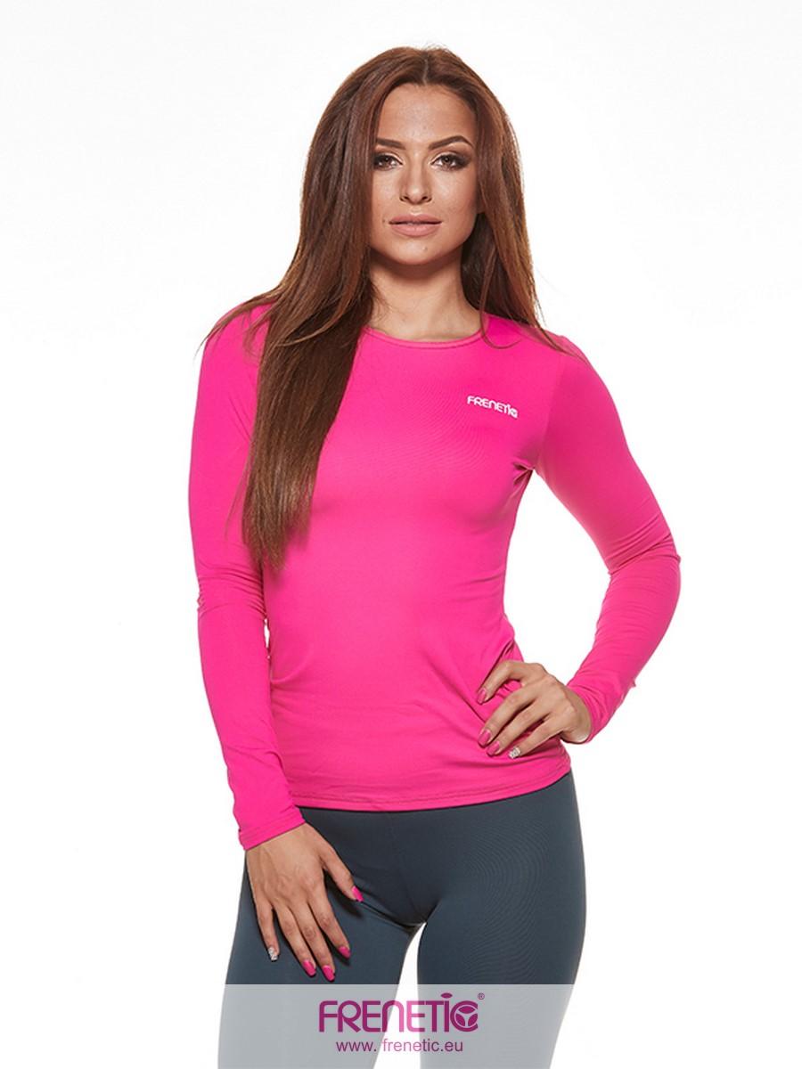 5b51f9057f Hip-21 női, kerek nyakú, pink hosszú ujjú sport felső
