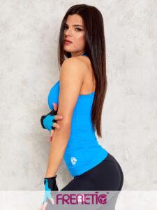 HARPER-48/00 sötét türkizkék fitness trikó main image