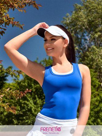 sötét türkizkék női fitness trikó