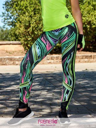 neon mintás női fitness leggings