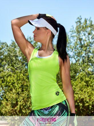 neon zöld fitness trikó