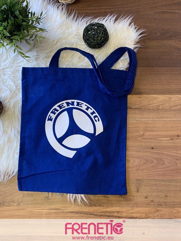 kék pamut shopping táska