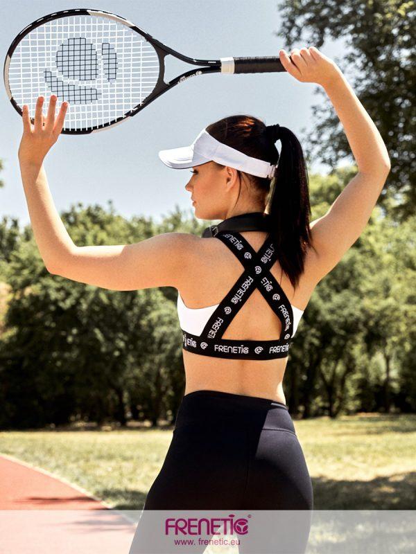 Fehér női fitness sportmelltartó