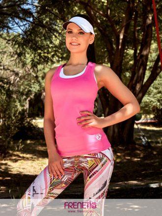 neon pink fitness edző trikó