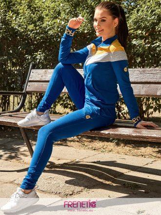 kék pamut női nadrág és pulover