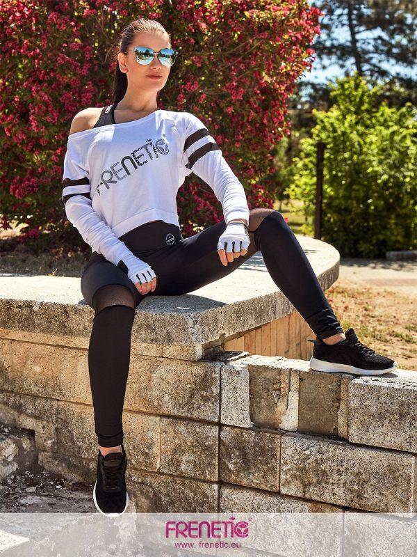Hortenz fekete extra magas derekú leggings