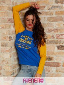 DIANA-43/14- kék/sárga női pamut pulcsi main image