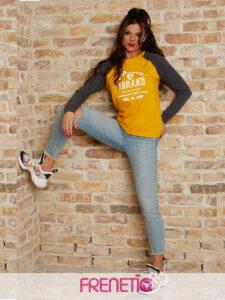 DIANA-14/03- sárga, női pamut pulcsi main image