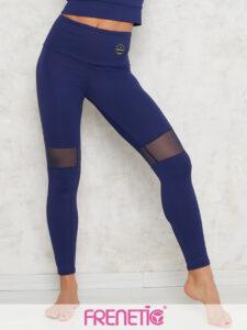 HORTENZ-45 női sötétkék tüllbetétes leggings main image