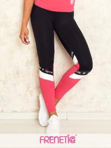 POWER-01/27 fekete, lábszáron rózsaszín női hosszú nadrág main image