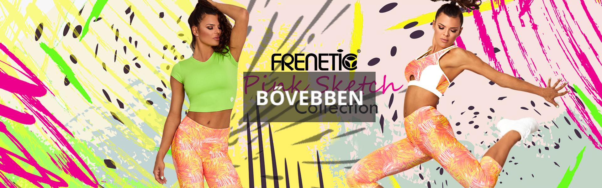 Frenetic Flash szürke sárga női fitnesz kollekció